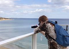 Marjon filming (Hans van der Boom) Tags: europe portugal algarve vacation holiday albufeira people woman marjon wife filming tourist pt