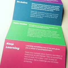 Really beautiful Five Ways To Wellbeing card from Age Better Sheffield. I want an in house deign team like @syorksha (Foz_) Tags: instagram really beautiful five ways to wellbeing card from age better sheffield i want an house deign team like syorksha