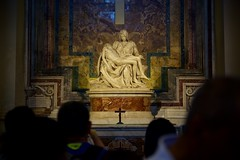 Piet (cookedphotos) Tags: canon 5dmarkii travel italy rome vaticancity stpeters basilica stpetersbasilica church piet michelangelo sculpture mary jesus death tourists sadness sad
