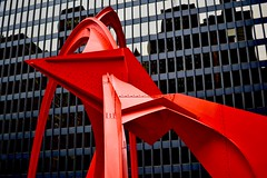 Flamingo (MFG512) Tags: chicago chitown sculpture art photography red steel architecture building flamingo design photo zoom aperture bokeh focus