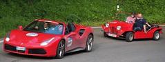Mille Miglia 2016 - Red Passion (Bardazzi Luca) Tags: car sportiva supercar ferrari mini moke futa passo strada road tornante rievocazione storica automobile rosso cabriolet della mugello