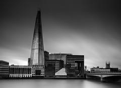 The Shard London (www.premiumpics.co.uk) Tags: theshard london londonbuildings londonskyline thames thethames riverthames longexposure blackandwhitelongexposure