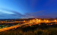 Light trails at Formosa Freeway (Vincen Chuang) Tags:      3    taiwan thebeautyoftaiwan formosa freeway no3 zhonggangsysteminterchange lighttrial light nightscape nightview nightscene  taichuangcity sony a7rii a7r2 canon ef1124mmf4l