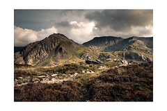 Tryfan and Glyder Fach from Pen Yr Ole Wen (osh rees) Tags: tryfan glyder fach north wales snowdonia ogwen evening light heather landscape 16mm wr xf lee 09 hard nd grad xpro2 fuji