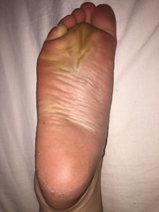 Wrinkled sole left (barefooted84) Tags: feet foot toes barefoot wrinkled