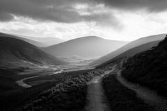 A Road Less Travelled (Kieran Campbell) Tags: avon cairngorms highlands moray scotland alba bnw glen braemar unitedkingdom