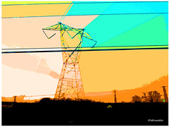 Powerline #abstract (Stephenie DeKouadio) Tags: canon photography outdoor painting abstract artistic art sunset virginia color colour colorful darkandlight