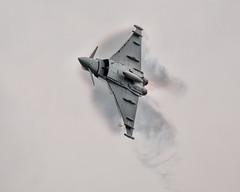 typhoon vapour burst from underside 01 (Brian Wadie Photographer) Tags: 21816 extremestunt spitfiremk2 sunday beachassault blades mitchellbomber redarrowa redtigersfrefall sallyb typhoon