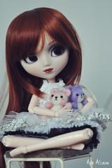 Lilith (Au Aizawa) Tags: pullip adsiltia hnaoto hjelly hfrill japanese fashion doll needlefelting handmade felt mascot wool teddybear