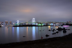 Odaiba, Rainbow bridge, Tokyo (Dunae88) Tags: odaiba rainbow bridge tokyo japon japan water sea mar puente