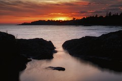 lake superior sunset / cottrell cove (twurdemann) Tags: 06ndhardgrad 09softgrad algomaunorganized basalt canada detailextractor fujixt1 gnd2h gnd3s highway17n horizon lakesuperior landscape lava leeseven5 longexposure nature nd106 ndx8 neutraldensityfilter nikcolorefex nikcolorefexefex northernontario ontario procontrast scenic seascape shoreline silhoutte sky sunset water xf1855mmviveza