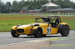 Battle of Britain meeting Croft 2016_0019   28-08-2016 (ladythorpe2) Tags: darlington district motor club north yorkshire croft circuit battle britain august 2016 northern saloon sports car nsscc caterham 7 crs saloons cars classes a e race 4 91 stuart carr csr 14th overall yellow seven