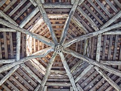 Cedar Symmetery (flickr flame) Tags: cedar logs sticks branches rustic pavilion shelter gazebo symmetry roof