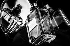 Triple smell (MvKriek77) Tags: macromondays inthemirror reflection nikon blackwhite closeuplens