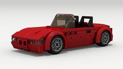 BMW Z3 (LegoGuyTom) Tags: bmw z3 classic vintage roadster speed speedster sport sports convertible 2door 1990s 2000s german germany european europe lego legos ldd legodigitaldesigner digital designer dropbox download legocity city car cars pov povray lxf