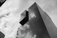 Reflection (minkulee) Tags: cloud clouds sky samsung building city blackandwhite bnw