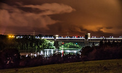 britannia bridge (Glen Parry Photography) Tags: glenparryphotography anglesey d7000 longexposure menaibridge nigh night nikon sigma wales britanniabridge