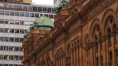 QVB (LenareRose) Tags: qvb sydney queenvictoriabuilding sandstone copperdome oldandnew architecture