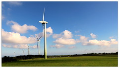 Postcard from Plouguin (patrick_milan) Tags: wind turbine plouguin