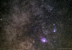 M8 (Lagoon Nebula) M20 (Trifid Nebula) (samuelepinna) Tags: m8 m20 trifid nebula lagoon laguna trifida astronomy astronomia dark sky astrometrydotnet:id=nova1722165 astrometrydotnet:status=solved