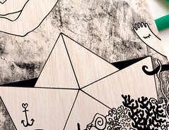 El barranco de la mar 2 (bransolo) Tags: illustration ilustracin bran slo branslo bransolocom wwwbransolocom tiendabransolocom dibujo drawing pintura painting tarot wood sea mar madera arte art hombre man surrealism surrealismo espaa spain murcia ilustrador illustrator jess cobarro yepes abarn ceut tentacle tentculo barco boat ship pencil ink acrylic acrlico lpiz tinta