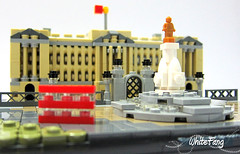 London Bus passing by Buckingham Palace (WhiteFang (Eurobricks)) Tags: lego architecture set landmark country buckingham palace victoria elizabeth royal royalty family crown jewel imperial statue tourist united kingdom uk micro bus taxi