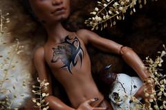 Clawd tatto details (Danya St.) Tags: wolf clawdwolf clawd custom ooak ooakdoll doll monster monsterhigh mh repaint