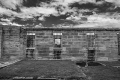 DSC00432 (Damir Govorcin Photography) Tags: isolation cells cockatoo island sydney australian history convicts sony a7ii 1650mm lens blackwhite monochrome clouds sky