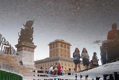 Tourists (Rickydavid) Tags: tourists turisti piazzavenezia roma reflection riflesso pozzanghera acqua water vittoriano outdoor palazzoassicurazionigenerali rome pool piscina
