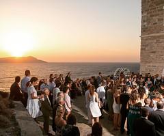 Religious #wedding in a very small but intimate #greekisland. Wedding #photography by talented @elenidona www.elenidona.com https://weddingingreece.com #sunset #psara #weddingplanner #weddingingreece