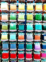Multi Colored Spool (ph4mt) Tags: inarow backgrounds fullframe order largegroupofobjects arrangement greencolor repetition multicolored spool freshness retail complexity nopeople creativity red arranged