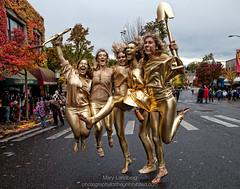 Gold Diggers (landbergmary) Tags: marylandberg conceptualphotography conceptualportrait portrait brave courageous puttingitoutthere uninhibited fearless golddiggers jumping bestfriends halloween