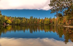 Nature's framing & early Autumn reflections (Cole Chase Photography) Tags: reflections vilascounty northwoods wisconsin autumn fall autumncolors fallcolors october canon eos5dmarkiii