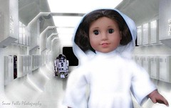 Leia of Alderaan (~Snow~) Tags: ag american girl star wars princess leia alderaan r2d2