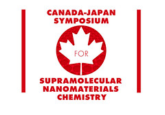 3rd version of maple leaf - red circle CANADA - JAPAN SYMPOSIUM logo with nanomaterials represented by a graphen lattice (elizabatz.jensen) Tags: leaf leaves maple ogos canada redmapleleaf flag japan nanomaterials lattice graphen chemistry conference symposium