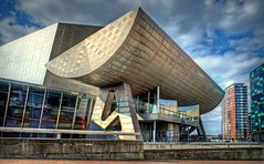 The Lowry Theatre (>Cluke) Tags: pictures hot colour art architecture digital cool fuji awesome digitalart artsy fujifilm picturesque hdr visualart xe1 colourlicious cluke fujifilmxe1 fujixe1