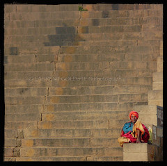 Trusting the Wind (designldg) Tags: travel people india man heritage mystery stairs square photography colours peace expression faith dream atmosphere soul devotion varanasi geometrical turban spiritual shanti hindu dharma hinduism kashi timeless rhythm ganga ganges quietness ghats benares benaras garment uttarpradesh  abigfave indiasong sdhu panasonicdmcfz18