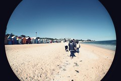 Brighton Beach (Bening Putri Wardani) Tags: holiday beach brighton australia melbourne fisheye