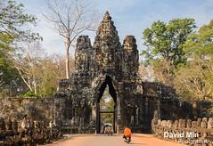 Siem Reap, Cambodia - Angkor Thom, Entry Tower (GlobeTrotter 2000) Tags: travel tower tourism monument architecture gate asia cambodia khmer buddhist entrance royal kingdom monk buddhism visit palace empire thom siemreap angkor iconic angkorthom