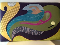 I dream sports - Headboard (Barjis Design) Tags: art furniture interior interiordesign eclectic headboards funheadboards patchworkheadboards