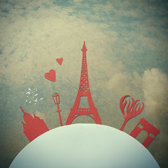 City of Love (Morphicx) Tags: old city blue light sky urban white abstract paris france color building tree art love silhouette skyline architecture illustration de french design globe construction europe cityscape graphic cathedral symbol earth background famous eiffeltower arc triomphe eiffel scene structure business backgrounds sacrecour cityoflove heartshapedtree