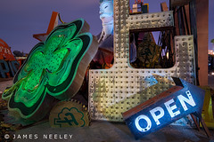 Boneyard 1 (James Neeley) Tags: nightphotography lightpainting lasvegas nevada boneyard lowlightphotography jamesneeley neonsignmuseum