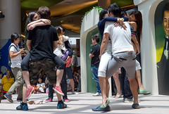 Kissing contest at VivoCity Mall (Tatyana Kildisheva) Tags: mall island kissing asia southeastasia contest tropics vivocity dsc2753