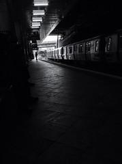 Waiting (joesanta) Tags: blackandwhite documentary editorial uploaded:by=flickrmobile flickriosapp:filter=nofilter journalsquarepathstation
