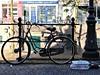 Dutch bikes #10 (ingehoogendoorn) Tags: black holland bike silhouette utrecht earlymorning thenetherlands bikes pizza zwart fietsen silhouet fiets oudegracht pizzas bikeparking dutchbikes