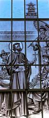 Window St. Paul's Catholic Church. (PJD-DigiPic) Tags: street etched church window glass francis catholic main stpauls glastonbury xavier orient