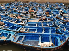 blue boats ( explored ) (mujepa) Tags: blue port boat ship harbour bleu morocco maroc repetition bateau essaouira barque mogador