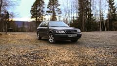 Audi A6 2.8 Quattro 1996 (Fredrik Svanholm) Tags: panorama cars car 50mm drive all 4x4 f14 quality fast sigma german 28 audi fredrik a6 quattro hurdal brenizer wheele svanholm