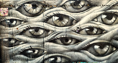 Eye Am Looking At You! (John Bielick) Tags: street city people eye art wall architecture painting concrete eyes alley nikon mural colorado paint downtown backalley artistic drawing grunge uploaded cement streetphotography places denver alleyway graffitti co caricature material spraypaint draw nikkor feature spraycan artdistrict d800 artistry digitalphotoframe 2470mm santafestreet phototechnique santafeartdistrict