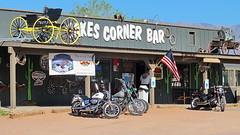 Jakes Corner Bar - Arizona Backroads (Al_HikesAZ) Tags: road arizona lake bar corner dam flag country motorcycles bikes americanflag az roosevelt harley american harleydavidson biker backroads davidson saloon backroad smalltown jakes bikers buckboard honkytonk bikerbar az188 jakescorner alhikesaz rooseveltdamroad jakescornerbar